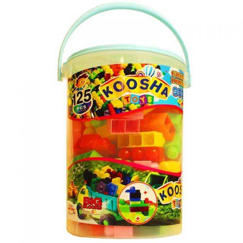 اسباب بازی بلوک ساختنی مدل 9003 سطلی کوشا تویز 6