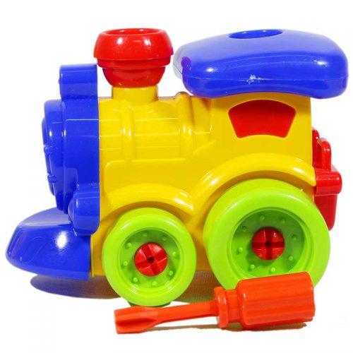 اسباب بازی کوکی مکانیک قطار فرفره های رنگی 2