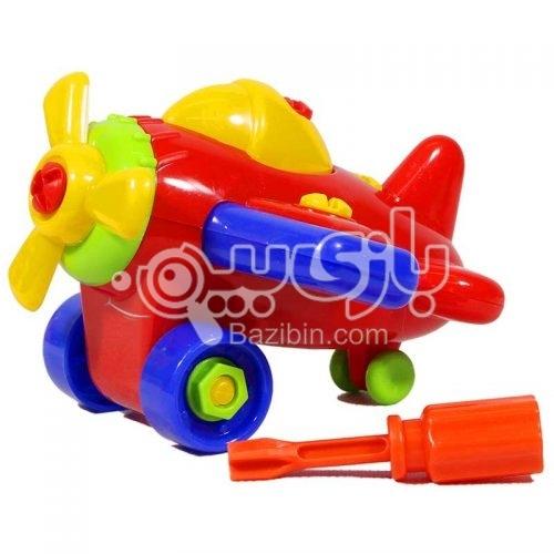 اسباب بازی کوکی مکانیک هواپیما فرفره های رنگی 3