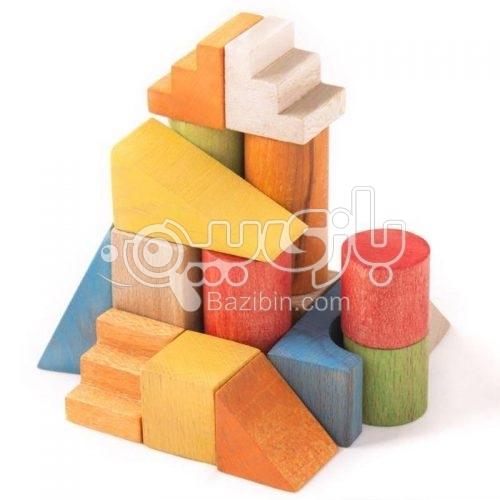 سپتااسباب بازی بریکس چوبی جعبه مقوایی سپتا 7