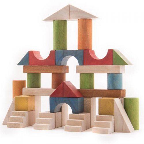 سپتااسباب بازی بریکس چوبی 40 قطعه جعبه ی چوبی سپتا 5 1