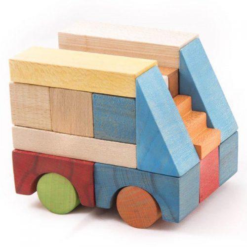 سپتااسباب بازی بریکس چوبی 40 قطعه جعبه ی چوبی سپتا 7 1
