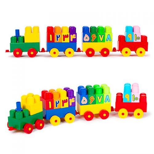 اسباب بازی آجره قطار اعداد با فرزندان 2