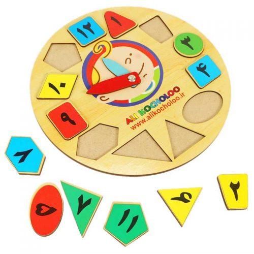 اسباب بازی آموزشی ساعت آموزشی علی کوچولو 5