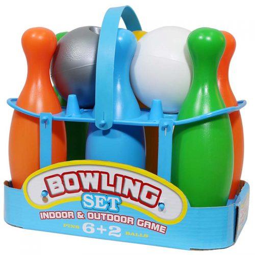 فکر بازینواسباب بازی بولینگ 6 عددی سبد دار دو توپه 3