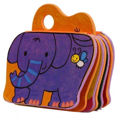 کتاب فومی یه بچه فیل بازیگوش با فرزندان4