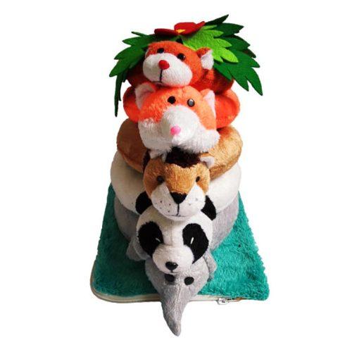 بازی حلقه هوش عروسکی حیوانات جنگل شادی رویان