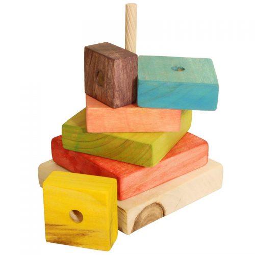 اسباب بازی مربع هوش دهکده چوبی آوای باران 4