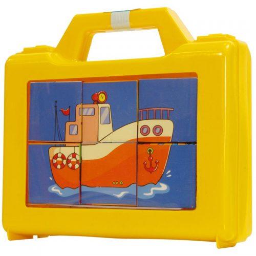 اسباب بازی مکعب تصویری وسایل حمل و نقل با فرزندان 1