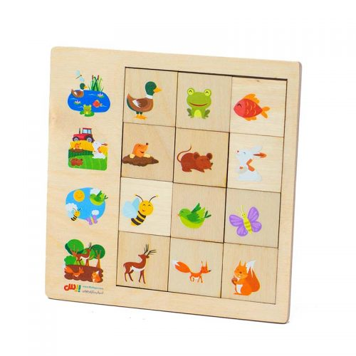 اسباب بازی پازل رابطه 12 قطعه بیس5