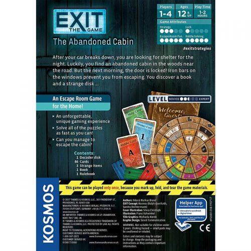 بازی رو میزی خروج کلبه متروکه EXIT THE ABANDONED CABIN فاکس گيمز 2
