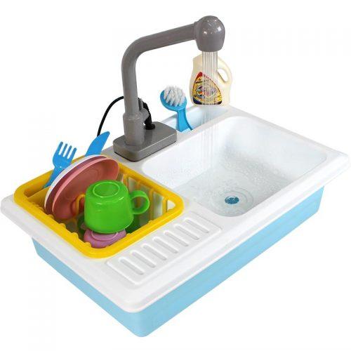 بازی سینک ظرف شویی الکتریکی آبی سیحان تویز 21