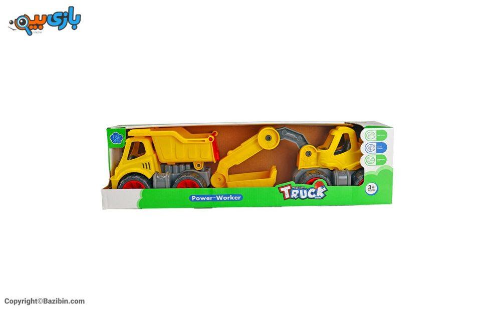 بازی پک کامیون و بیل مکانیکی کیوان تویز 2