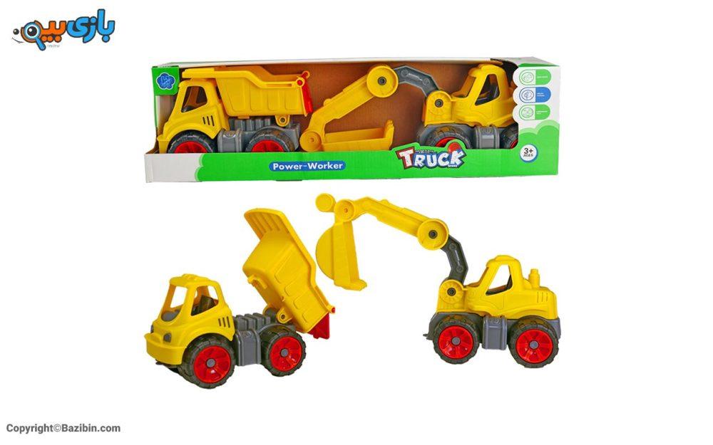 بازی پک کامیون و بیل مکانیکی کیوان تویز 3